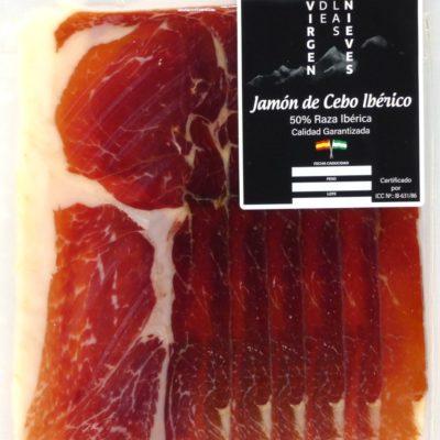 Loncheado Jamón de Cebo Ibérico 50% Raza Ibérica 100g.